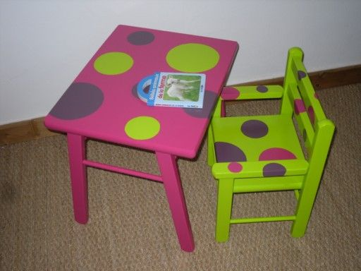 Ensemble table et fauteuil enfant for Table et chaise petite fille